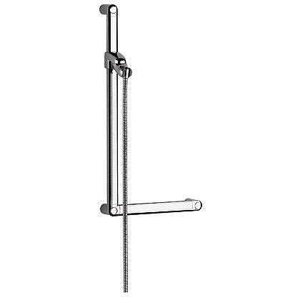 Kludi Sirena-Care - bezbariérová sprchová tyč 900 mm, s jezdcem a hadicí 6150305-00