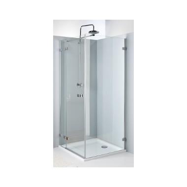Kolo Next - křídlové dveře 120 cm, pro kombinaci s pevnou boční stěnou, sklo čiré, stříbrná lesklá HDSF12222003 L/R