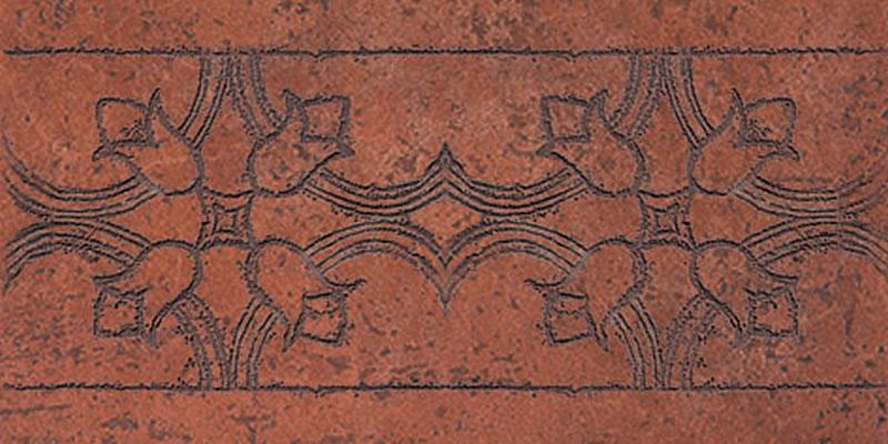 RAKO Antik - bordura 15x30 cihlová DDRJH012
