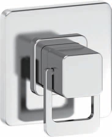 Laufen Quadriga - sprchová podomítková baterie H3312160040001