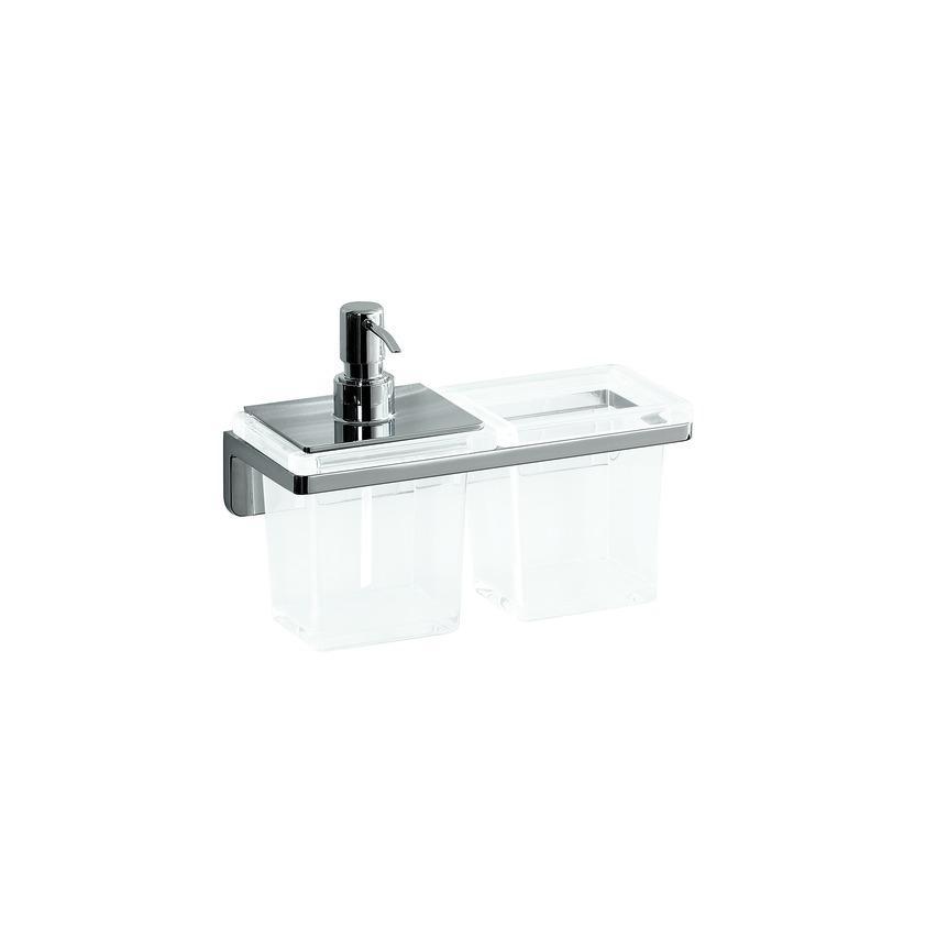 Laufen Lb3 - držák na pohár a dávkovač tekutého mýdla H3846850040001