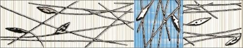 Organic blue border classic - obkládačka listela 5x25