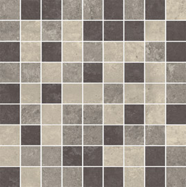 Ceramika Paradyz Mistral grys poler mozaika cieta mix - dlaždice mozaika 29,8x29,8 lesklá 119223