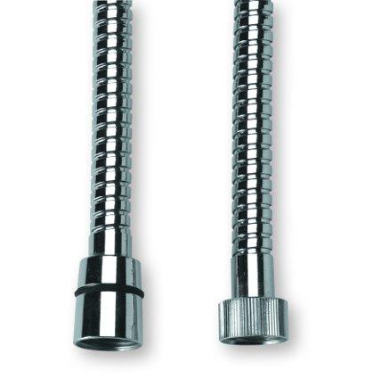 Sprchová hadice kovová, 200 cm, 3/8´´-1/2´´ k vanovým víceotvorovým bateriím
