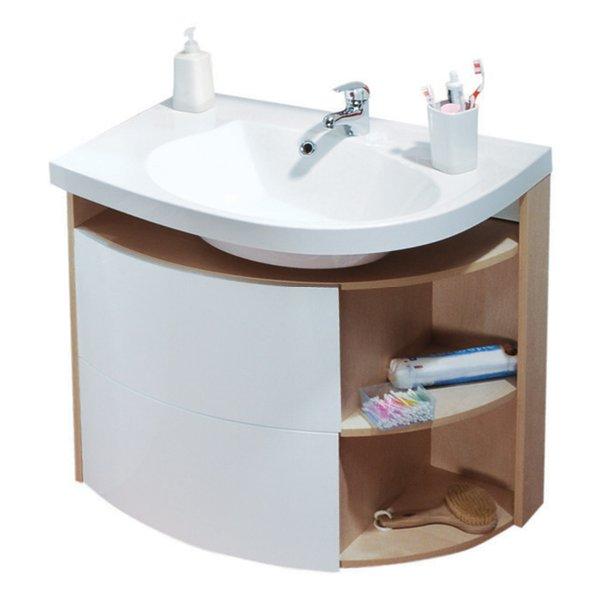 Ravak Rosa - skříňka pod umyvadlo 78x55 bříza/bílá SDU Rosa Comfort 780 bříza
