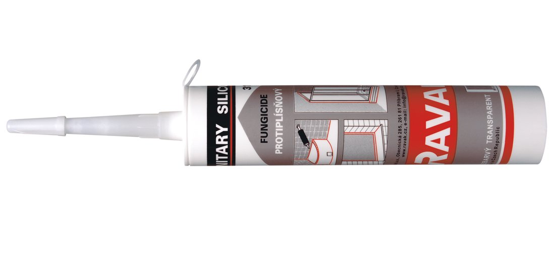 RAVAK Professional - silikonový tmel, bílý, 310 mm X01200