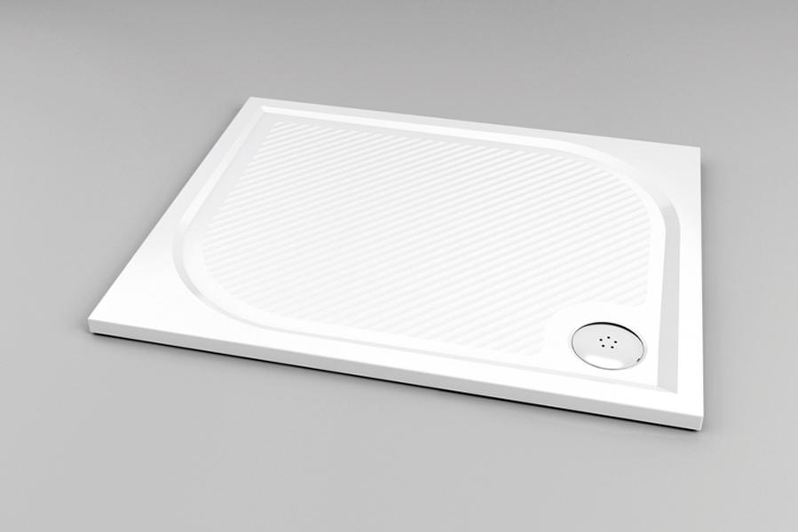 Ronal (SanSwiss) WMA - obdélníková sprchová vanička 800 x 1000, bílá WMA8010004