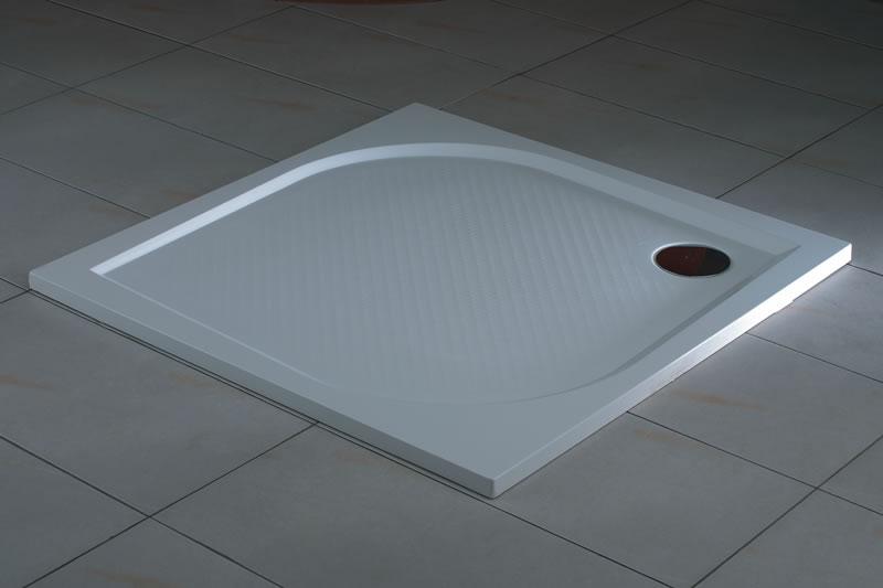 Ronal (SanSwiss) WMQ - čtvercová sprchová vanička 800, bílá WMQ080004