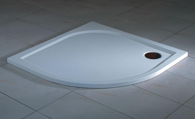 Ronal (SanSwiss) WMR - čtvrtkruhová sprchová vanička 800, bílá WMR55080004