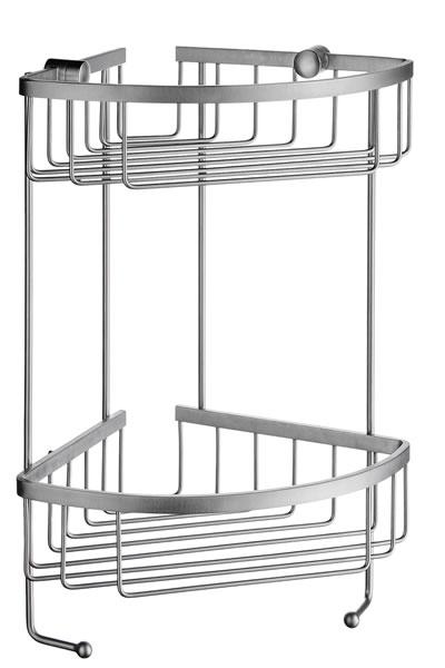 Sideline - polička drátěná rohová dvojitá, matný chrom