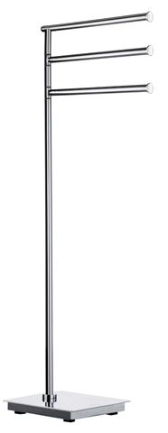 Smedbo Outline - držák ručníků, samostatně stojící, leštěná nerez ocel FK604