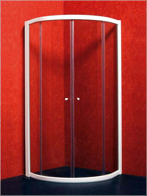 Vagnerplast Sagita - sprchový kout čtvrtkruhový 90x90, sklo čiré, rám bílý VPZA990SAG1S0X-01
