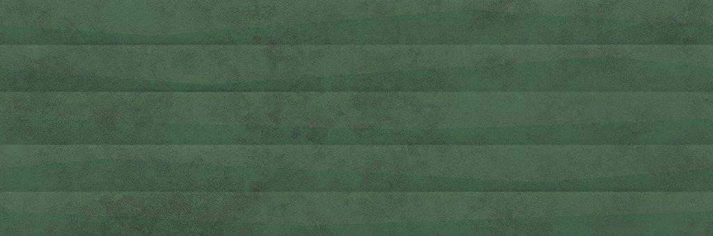 Green Show Structure Satin - obkládačka rektifikovaná 39,8x119,8 zelená