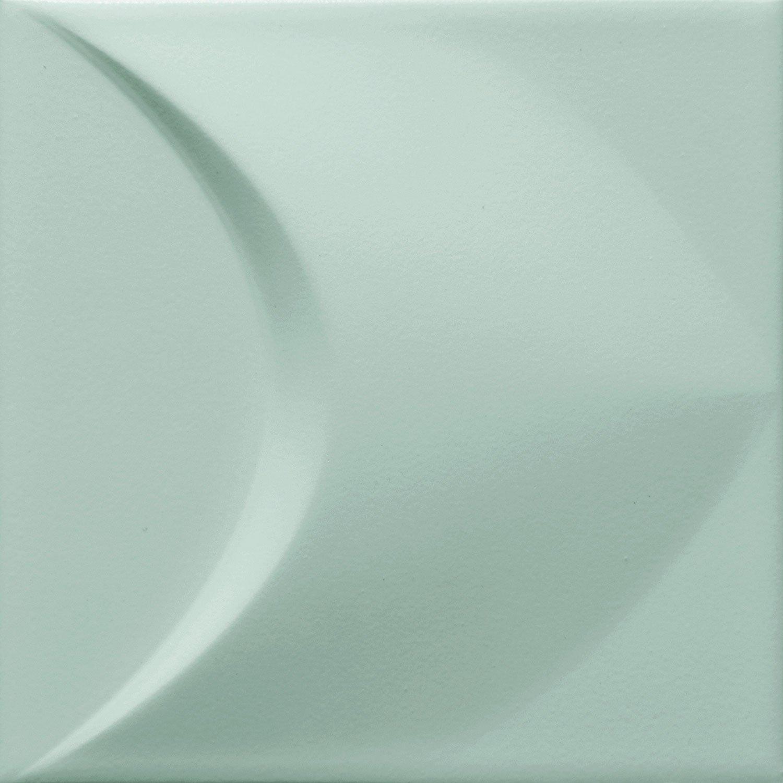 Colour mint 2 str - obkládačka rektifikovaná 14,8x14,8 zelená matná