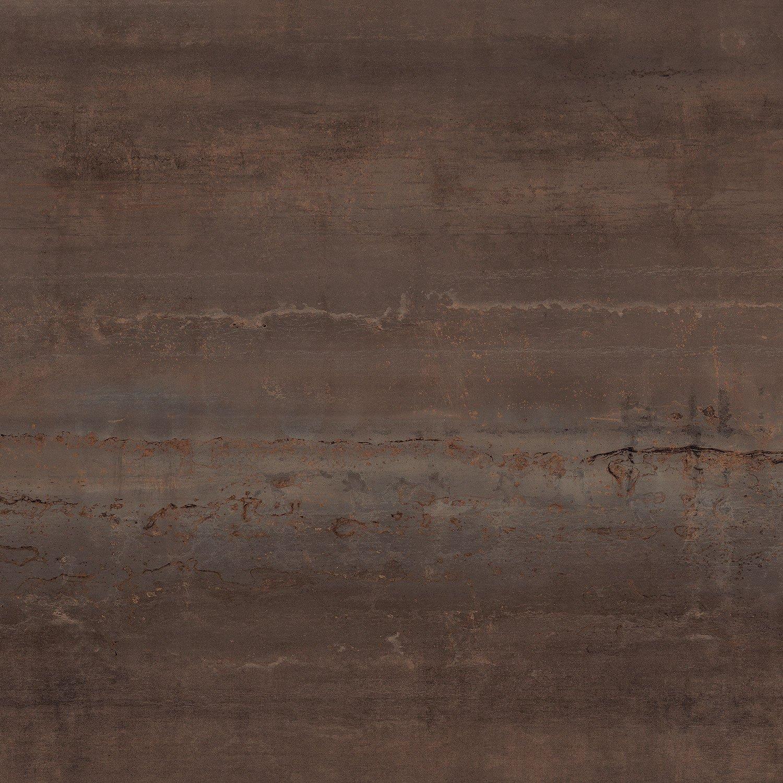 Tin brown lap - dlaždice rektifikovaná 119,8x119,8 hnědá pololesklá