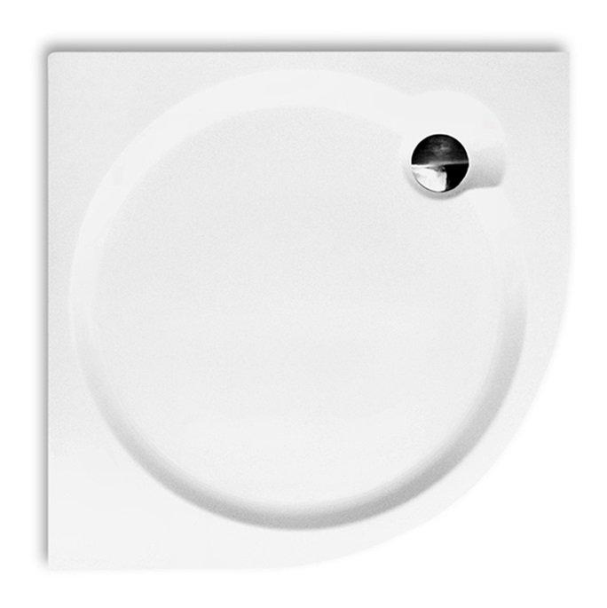 Dream flat 900 - sprchová vanička čtvrtkruhová 90x90 akrylátová, s nosičem