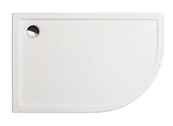Flat asymmetric (L) - sprchová vanička čtvrtkruhová asymetrická 120x80 levá, akrylátová