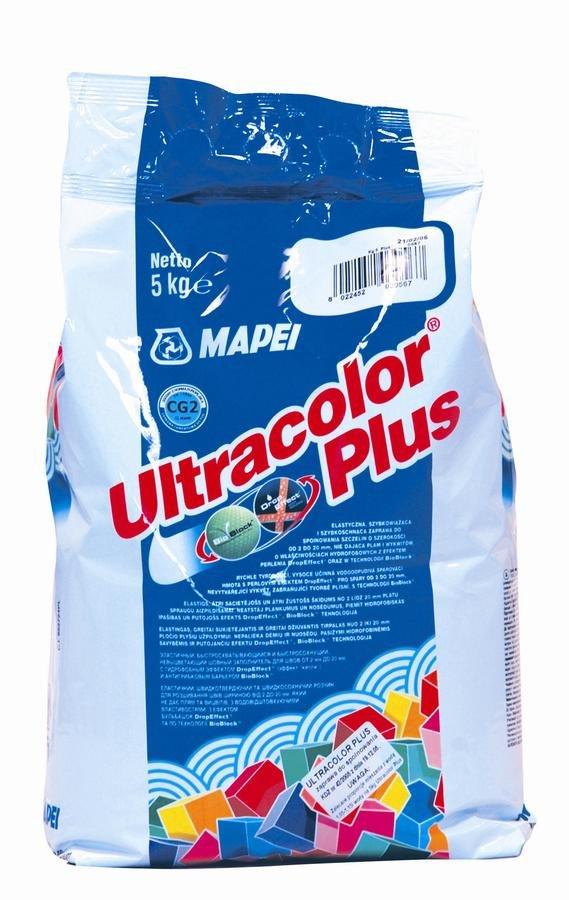 Mapei Ultracolor Plus 100 bílá - spárovací hmota, protiplísňová, 5 kg