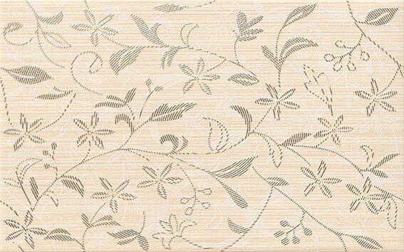Tanaka cream inserto flower - obkládačka inzerto 25x40 krémová