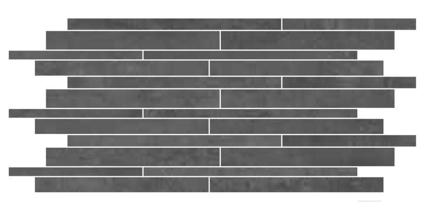 Muretto Nero - dlaždice mozaika 30x60 černá