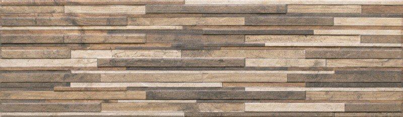 Zebrina wood - obkládačka 17,5x60 hnědá