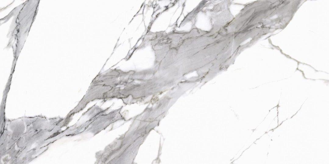 Calacatta white poler - dlaždice rektifikovaná 59,7x119,7 bílá