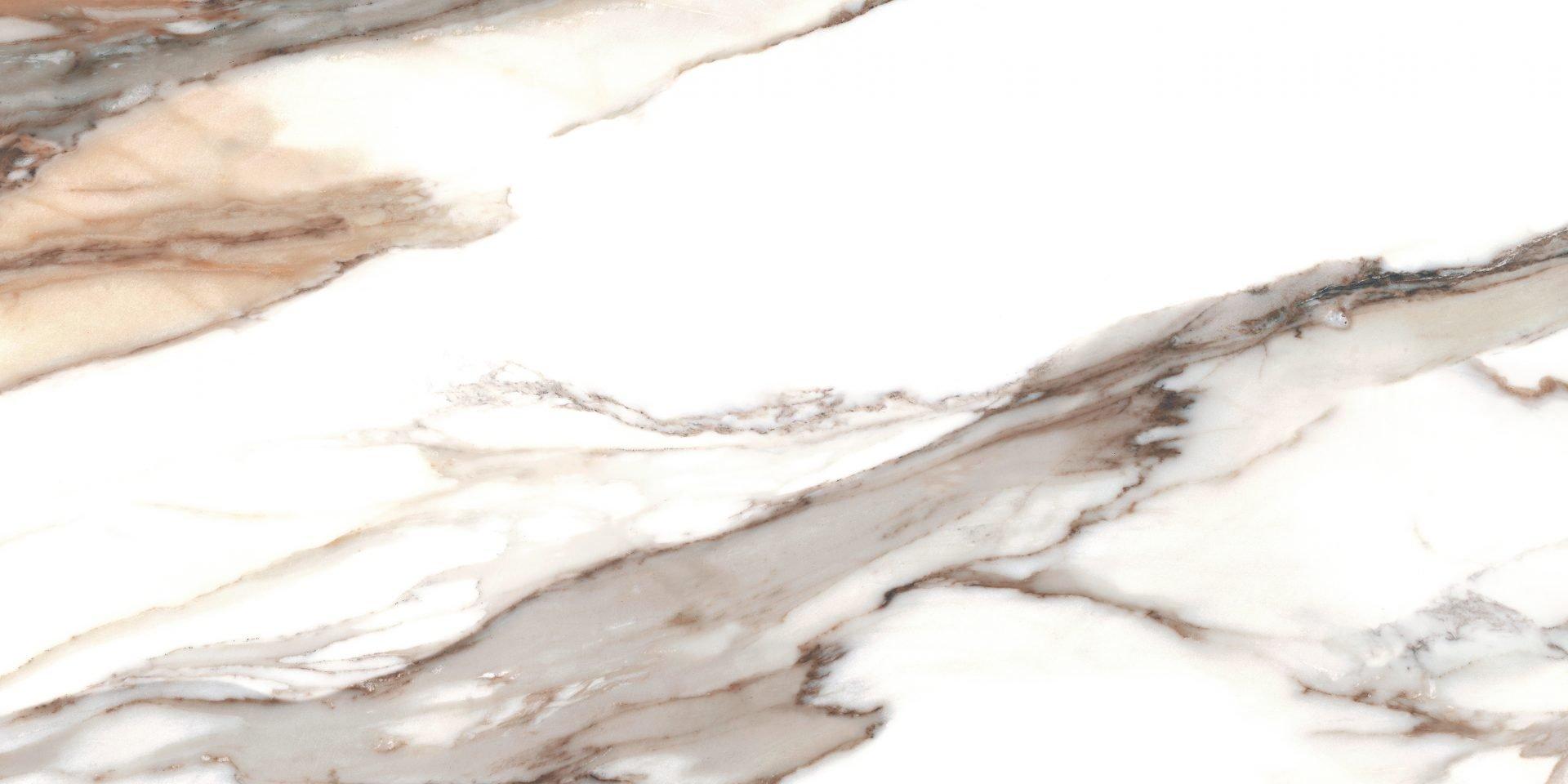 Calacatta gold poler - dlaždice rektifikovaná 59,7x119,7 bílá
