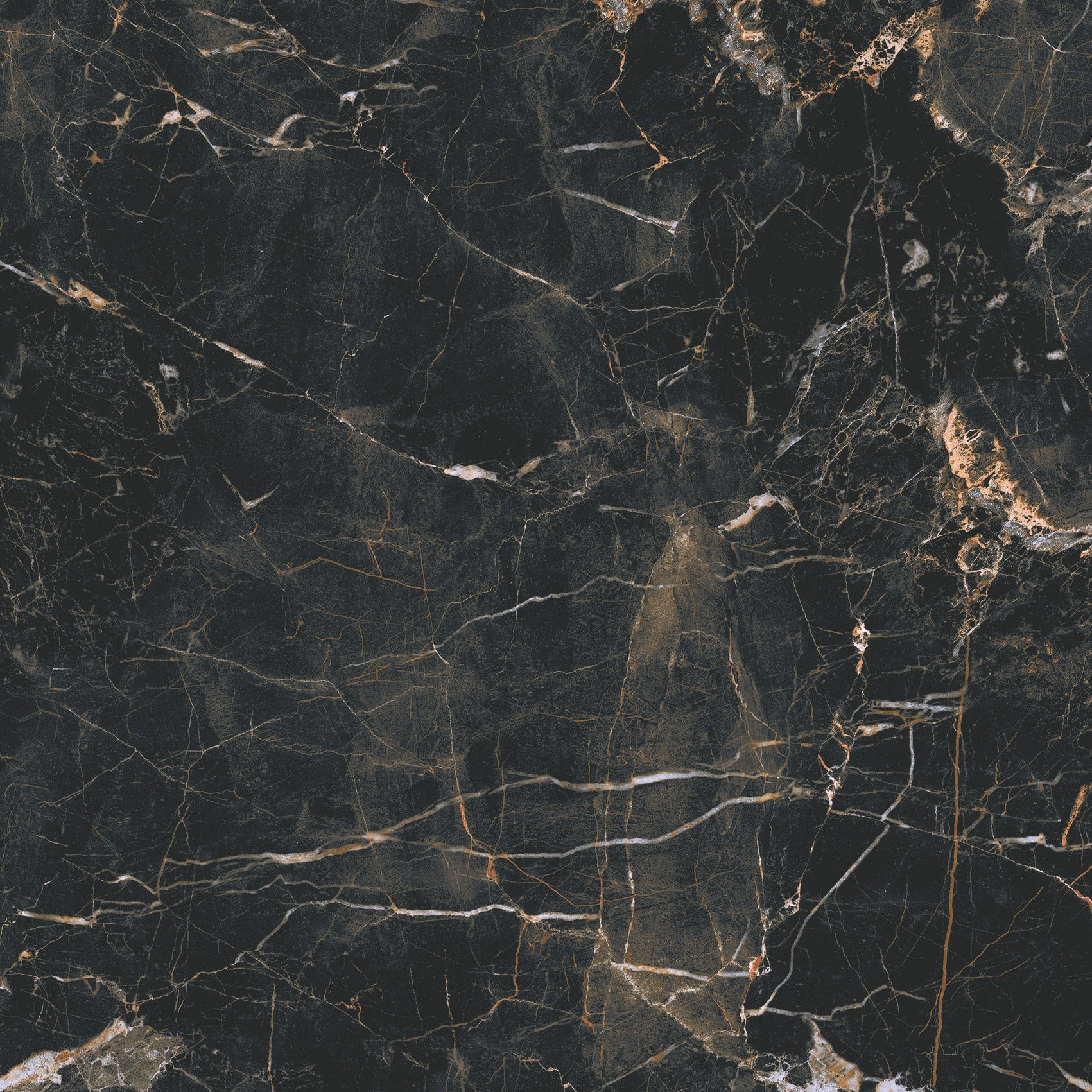 Marquina gold mat - dlaždice rektifikovaná 59,7x59,7 černá