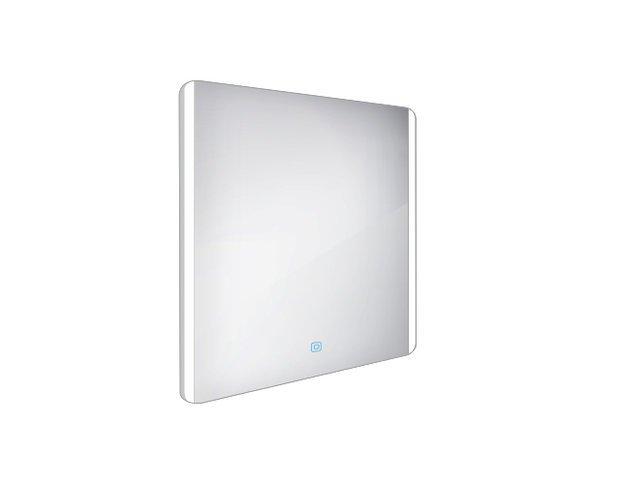 LED zrcadlo 80x70 cm, dotykový senzor, možnost nastavení barevné teploty