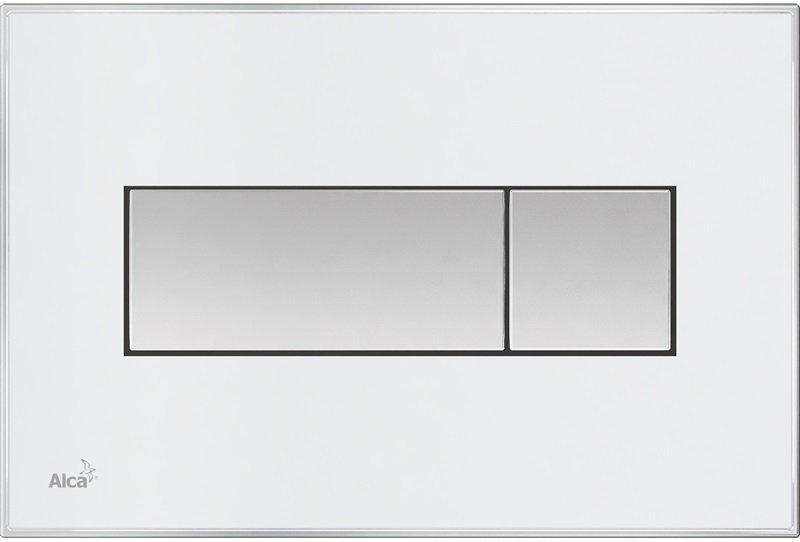 M1370 - WC ovládací tlačítko bílá-mat