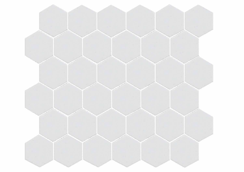 Hexagono Blanco - obklad mozaika 32x29 bílá