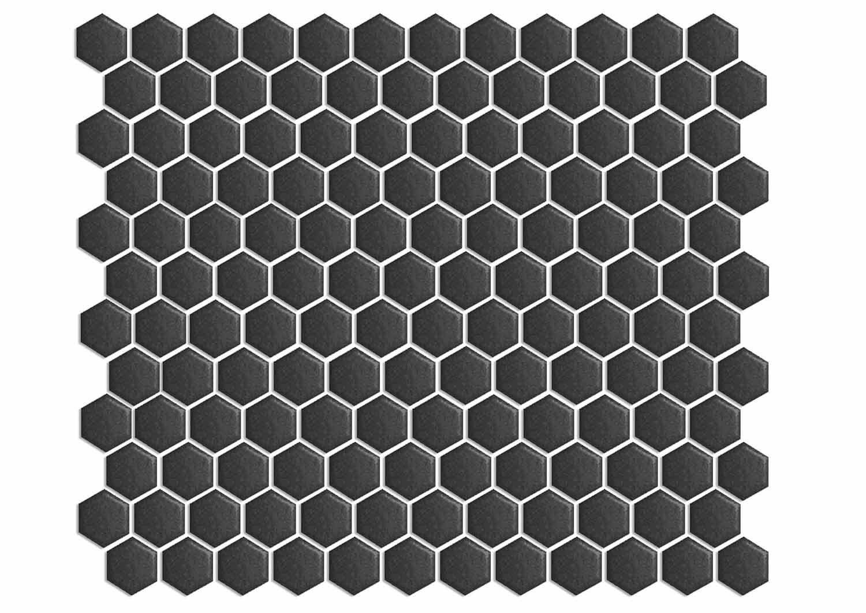 Hexagono Mini Negro - obklad mozaika 31x26,5 černá