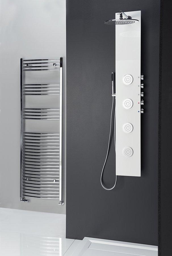 Sprchový panel 5side round 25x155 cm, aluminium