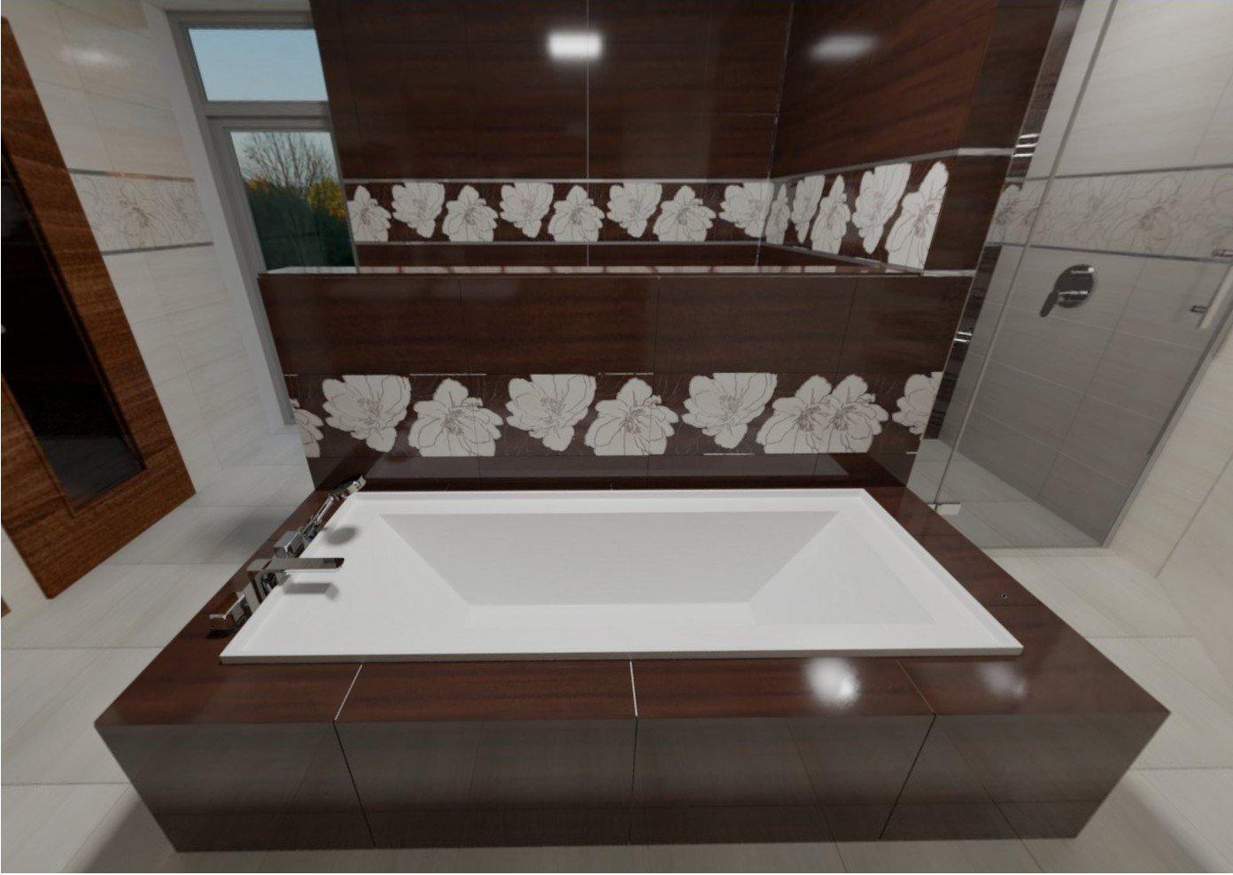 3D návrh - koupelna Ashen