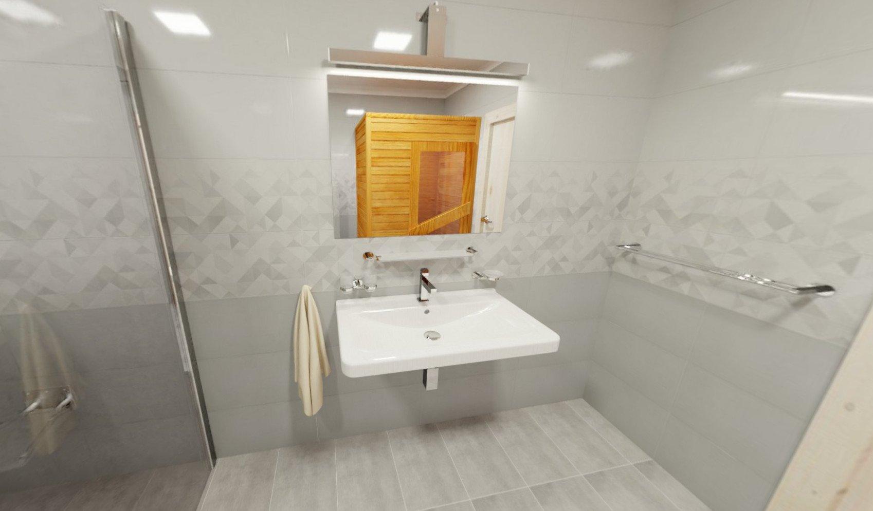3D návrh - koupelna Tonnes