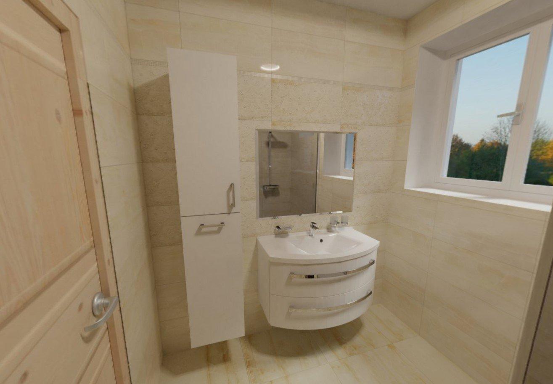 3D návrh - koupelna Onis