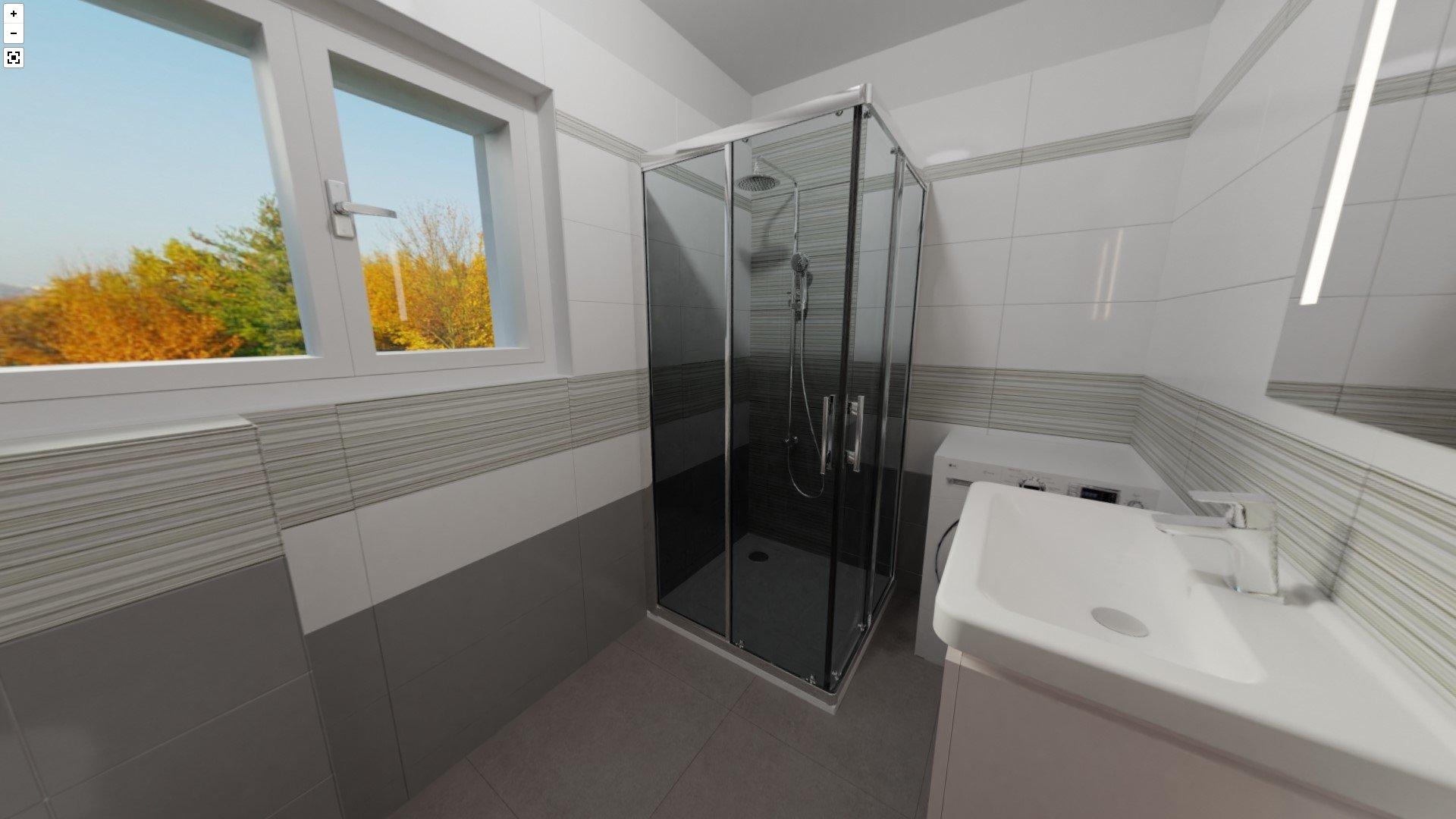 3D návrh - koupelna Verve