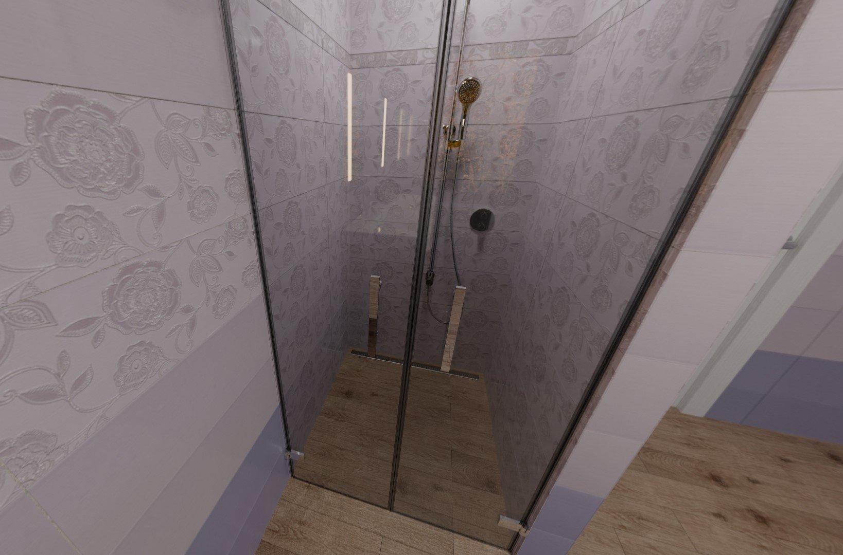 3D návrh - koupelna Paint Violet