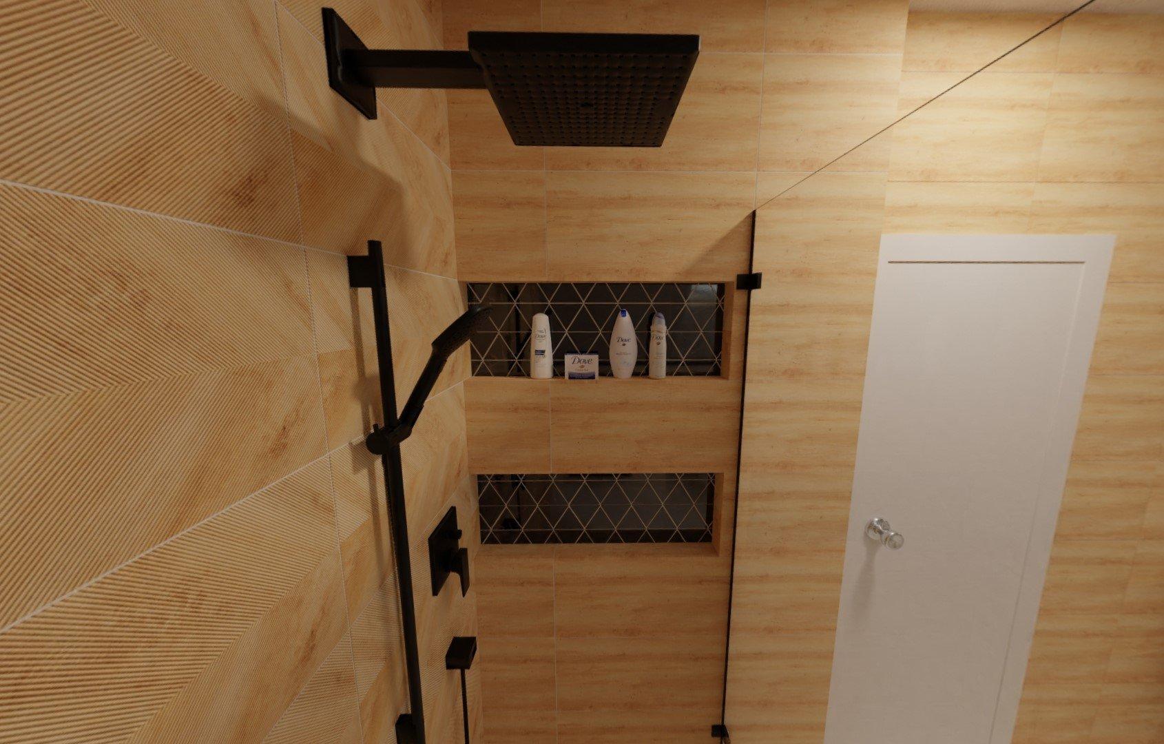 3D návrh - podkrovní koupelna Inpoint