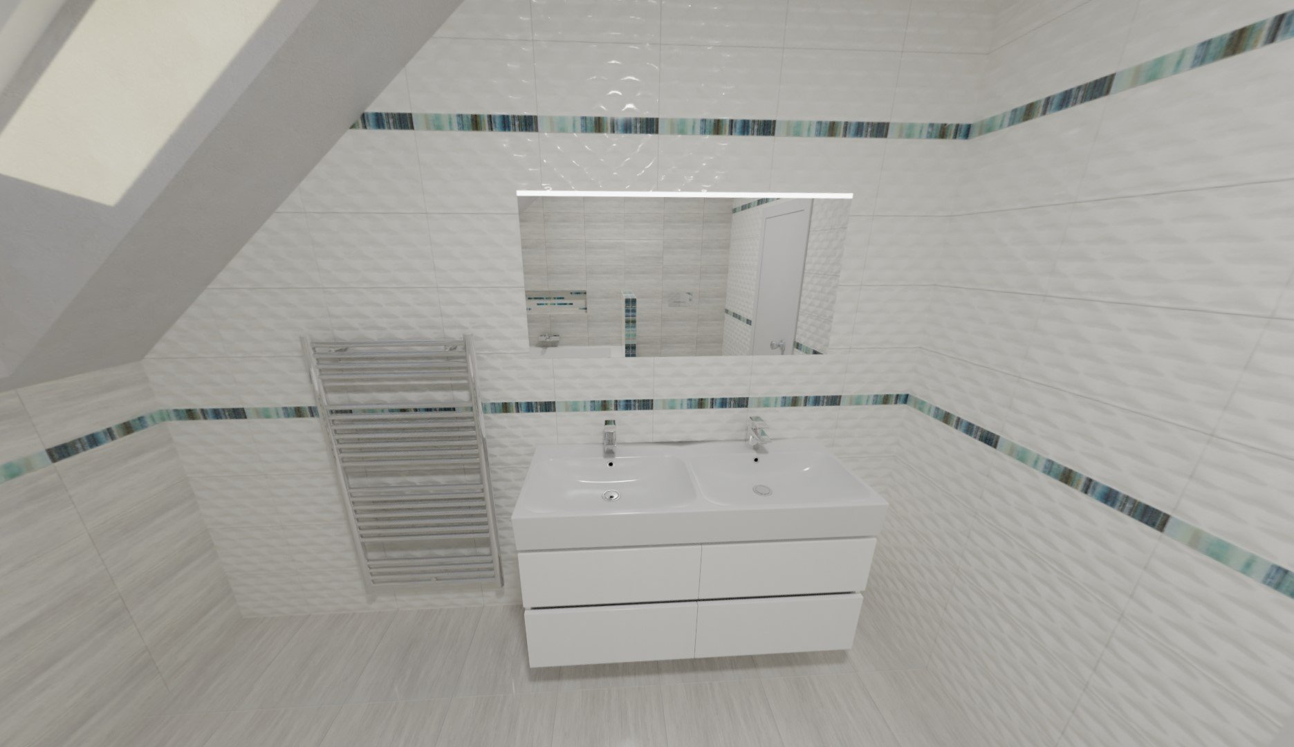 3D návrh - koupelna Nati Nato