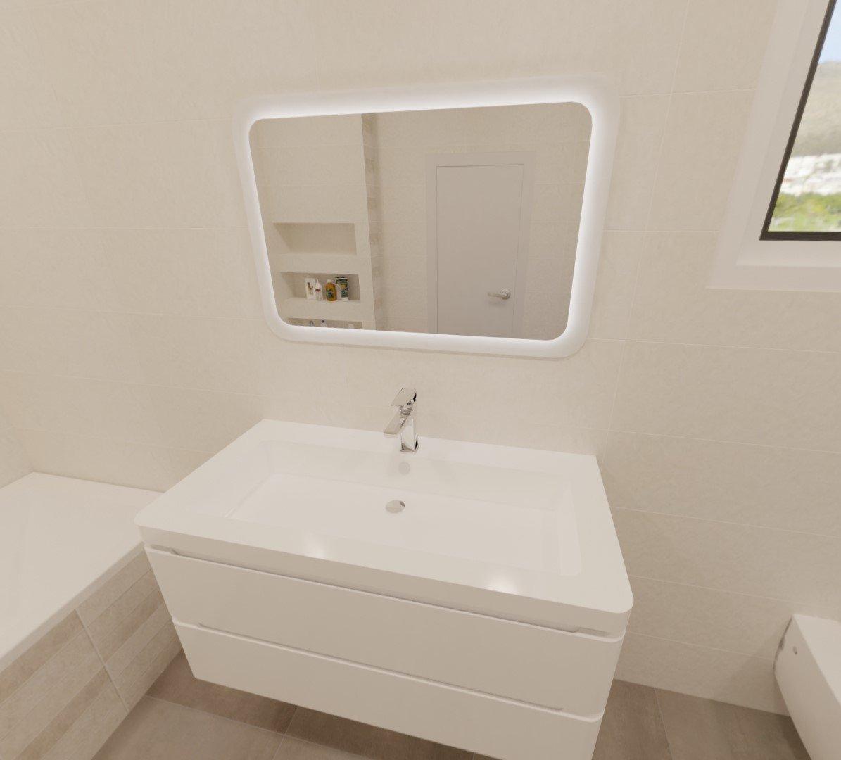3D návrh - koupelna Prowall