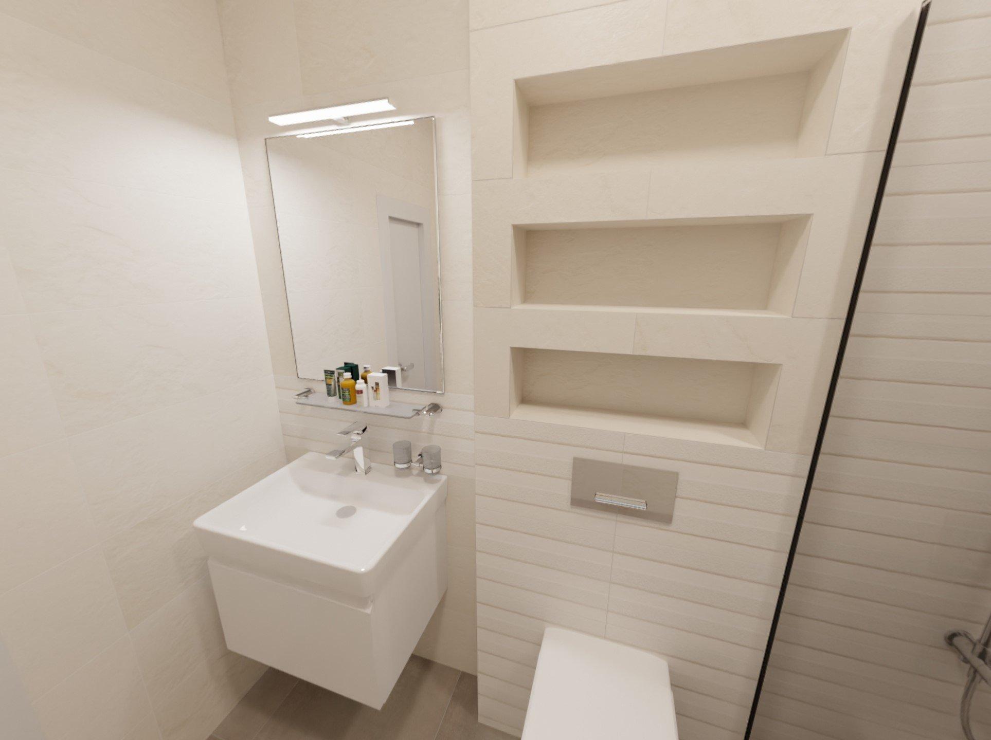 3D návrh - koupelna Blinds