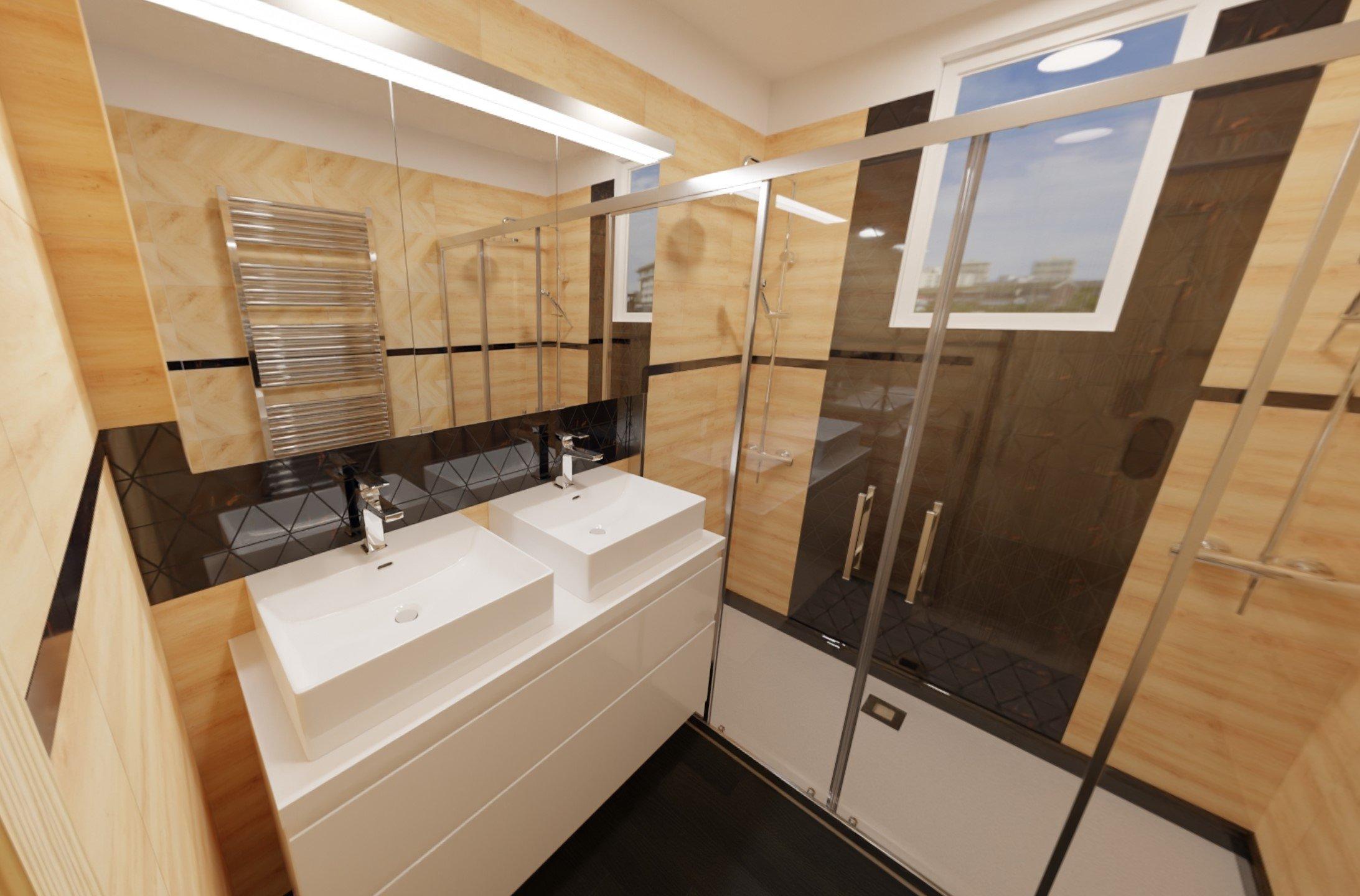3D návrh - koupelna Inpoint2