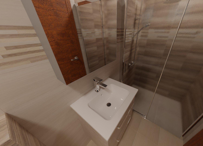 3D návrh - koupelna Bella