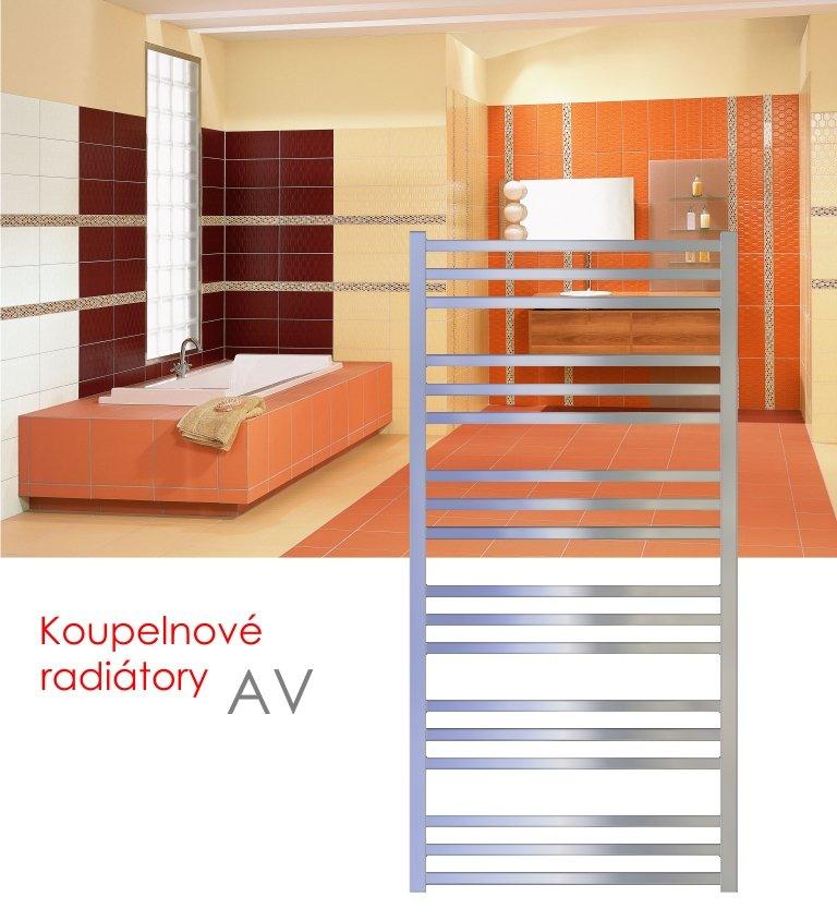 AV.ERC 121x48 elektrický radiátor s vertikálním regulátorem, metalická stříbrná