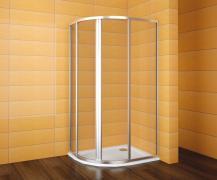 ECO SET SKKH 2/100-90 R55 - sprchový kout čtvrtkruhový 100x90x185 cm R55 levý, sklo čiré + vanička Virgo