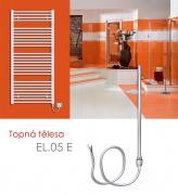 EL.05 E 600 W elektrické topné těleso bez regulace teploty, metalická stříbrná