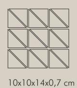 IN Argento Rete RAL 7044 - dlaždice mozaika 10x10x14 šedá matná