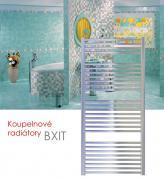 BXIT.ER 75x79 elektrický radiátor s regulátorem, do zásuvky, lesklý nerez